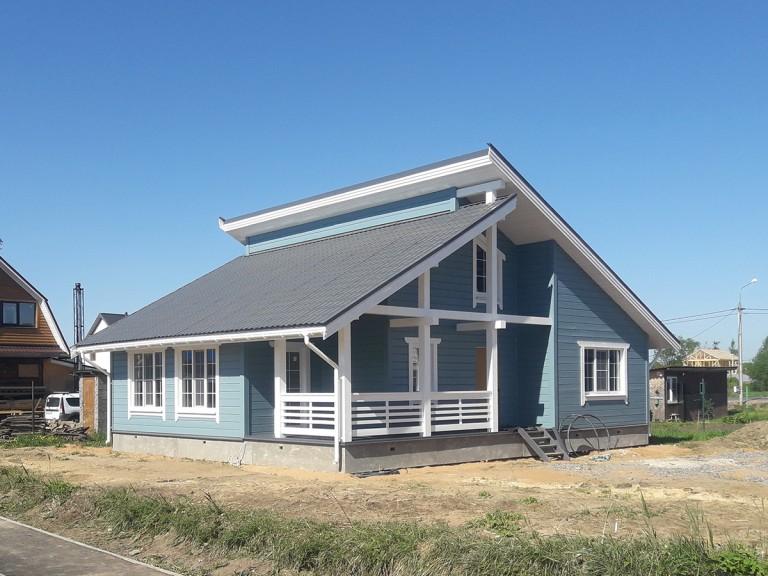 Каркасный дом шале в Коммунар