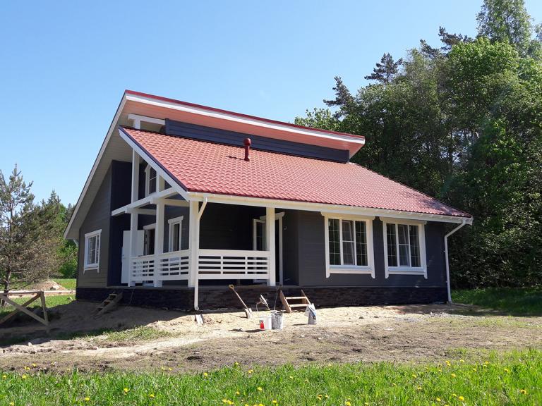 Новый загородный дом шале в Коробицыно