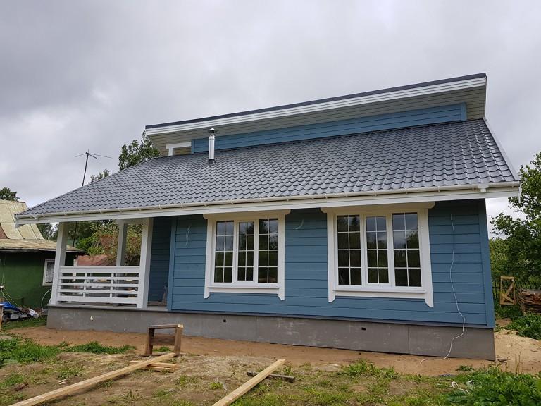финский каркасный дом садоводства
