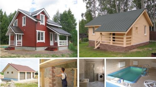 Строительство качественных гостевых домов и бань - оптимальный вариант для возведения дополнительных построек на благоустроенных участках.