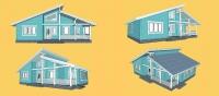 Новый проект загородного дома Шале - 130 кв.м
