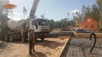 Заливка фундамента каркасного дома с применением насоса