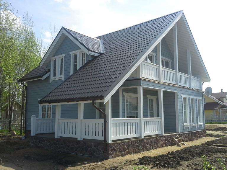 Каркасный дом Правдинское озеро-3
