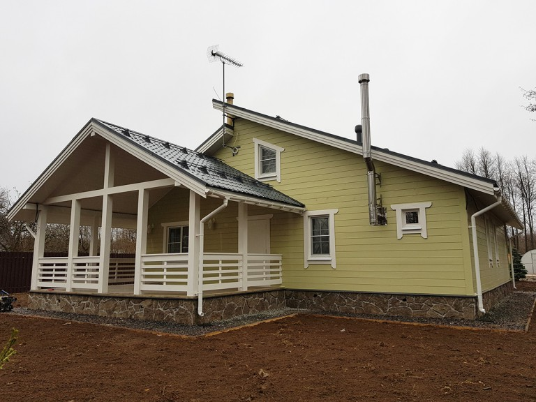 Каркасный дом проект Оранжерейка