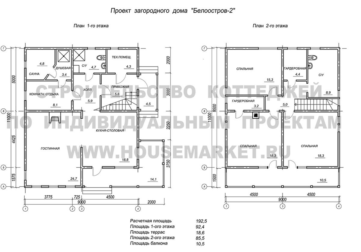 Белоостров планировка ХаусМаркет