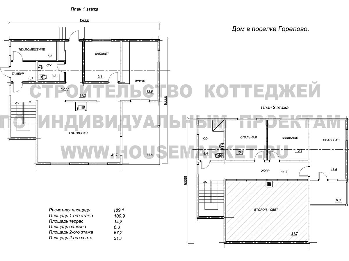 Горелово планировка ХаусМаркет