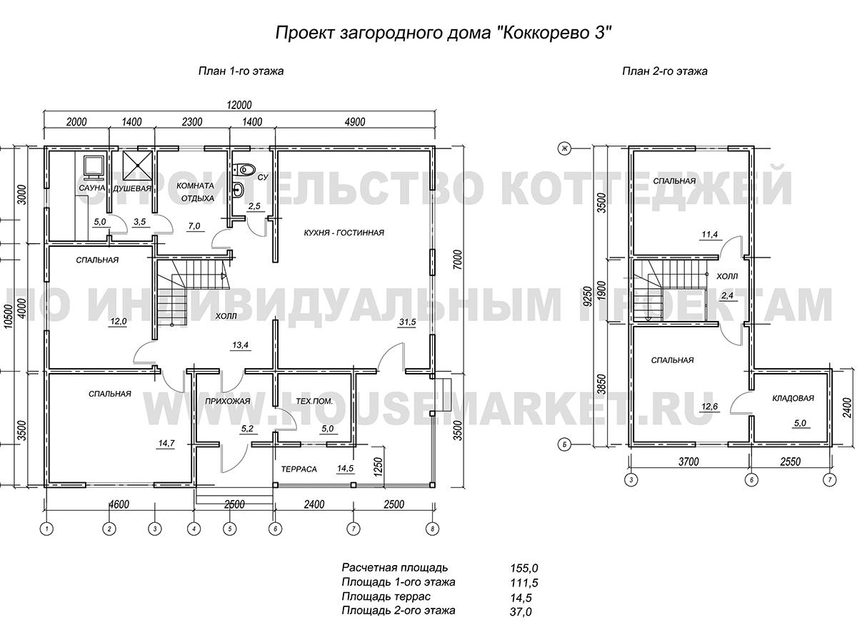 Коккорево-3 планировка Хаус Маркет