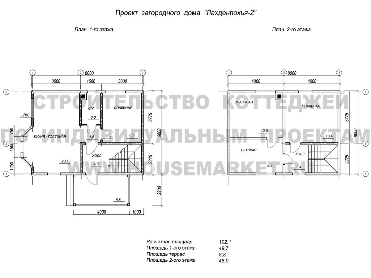 Лахденпохья-2 планировка Хаус Маркет