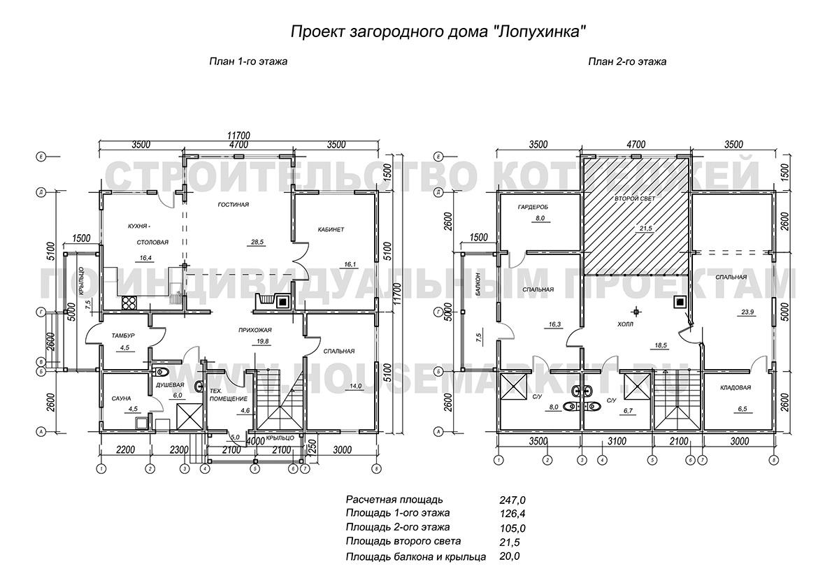 Лопухинка планировка Хаус Маркет
