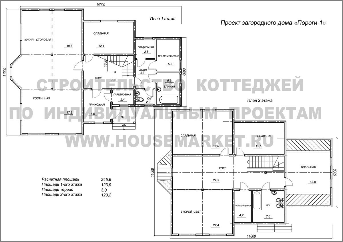 Пороги-1 планировка Хаус Маркет