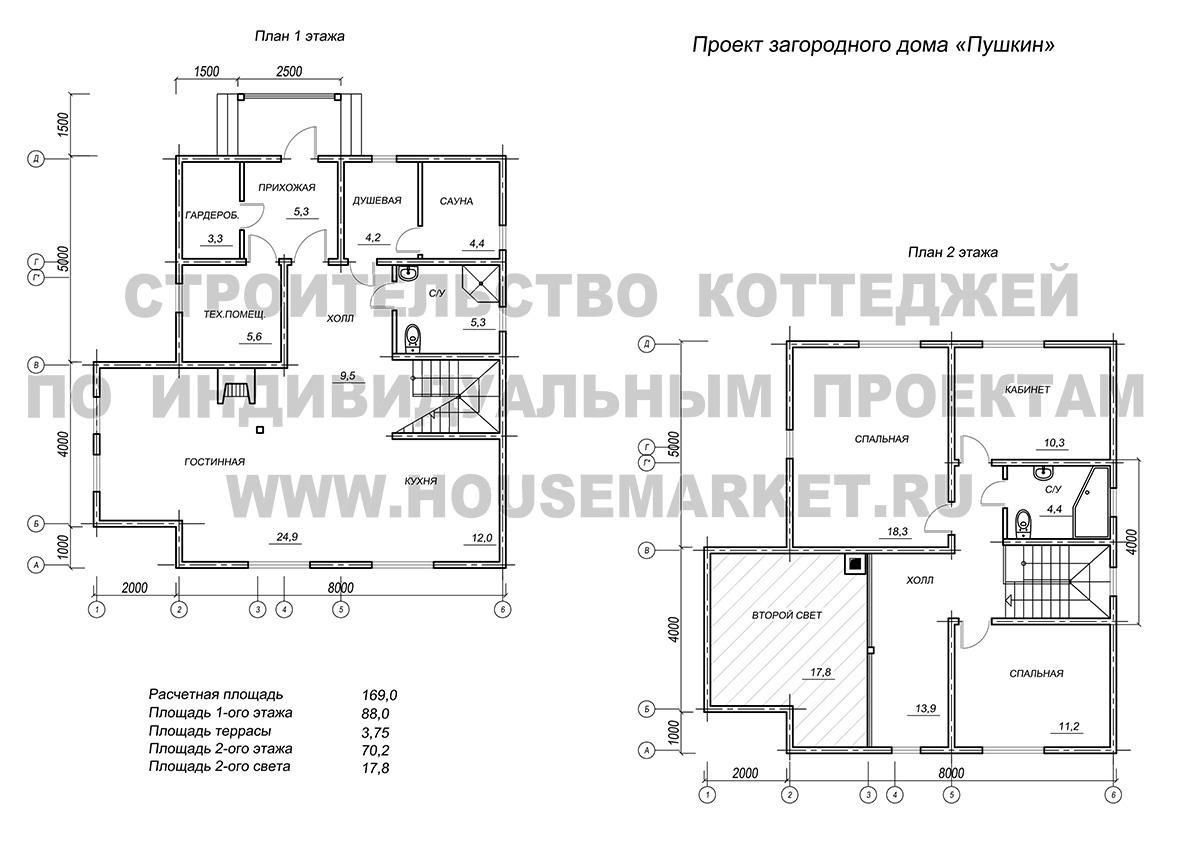 Пушкин планировка ХаусМаркет
