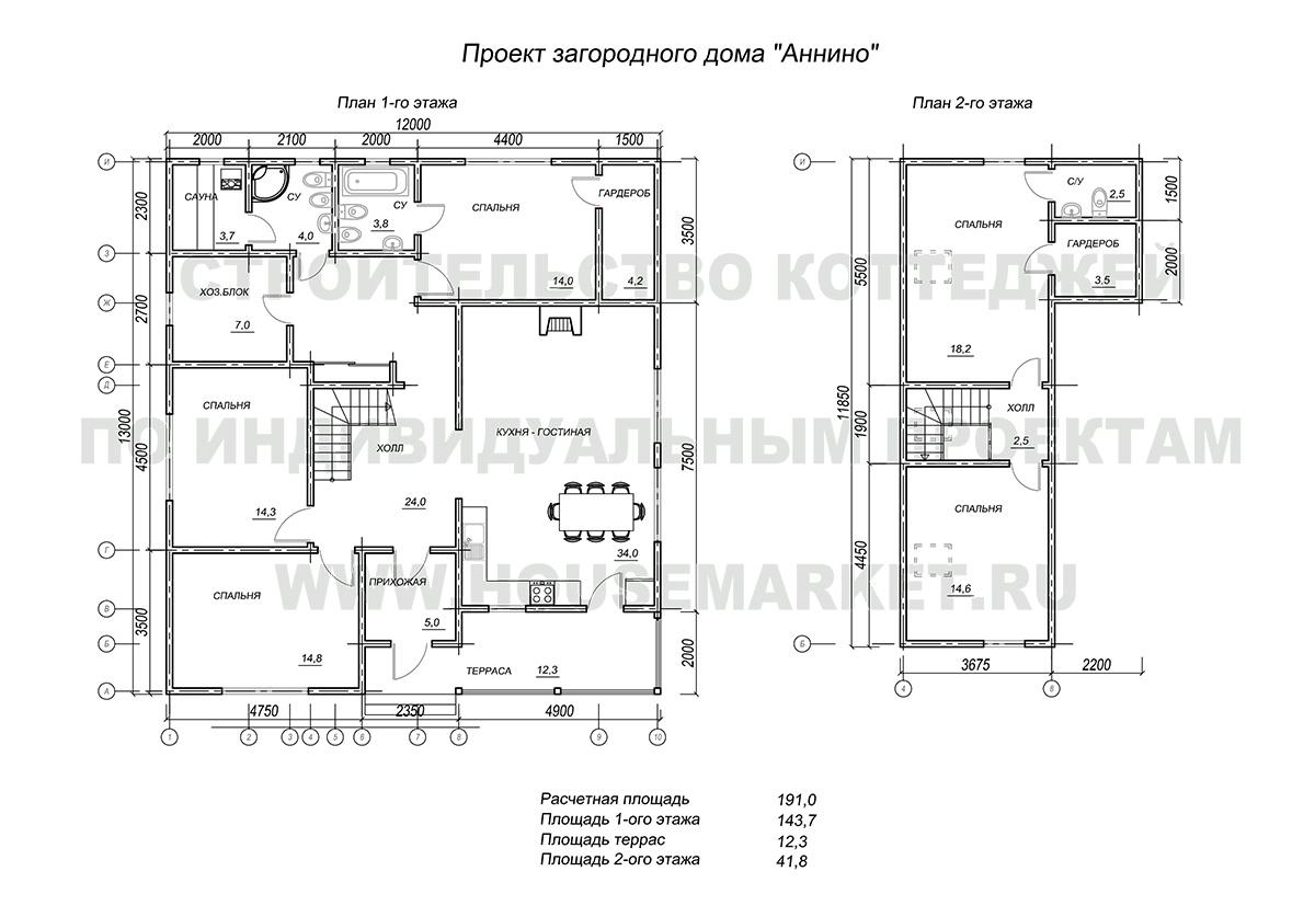 Аннино планировка шале Хаус Маркет