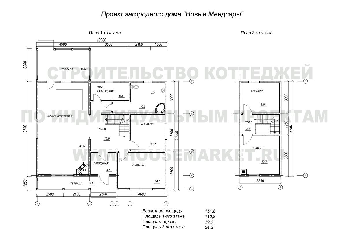 Новые Мендсары планировка хаус маркет